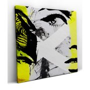 Red Noir Intrigue Framed Painting Print on Wrapped Canvas