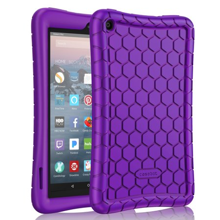 Silicone Case for Fire 7 Tablet (9th Generation, 2019 Release) - Fintie Kids Friendly Anti Slip Shock Proof Cover