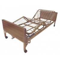 Drive Medical Full Electric Bed With Full Length Side Rails And 80 Inches Inner Spring Mattress - 1 Ea, 15005Bv-Pkg