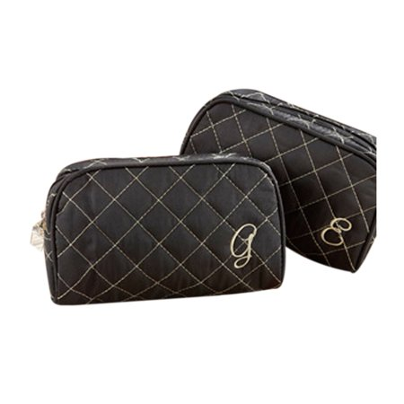 Couture Makeup - Cosmetic Couture Quilted Monogrammed Make-Up Bag