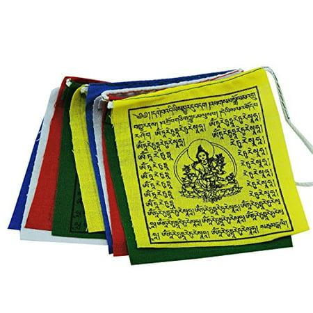 Handmade Mini Green Tara Prayer Flags From