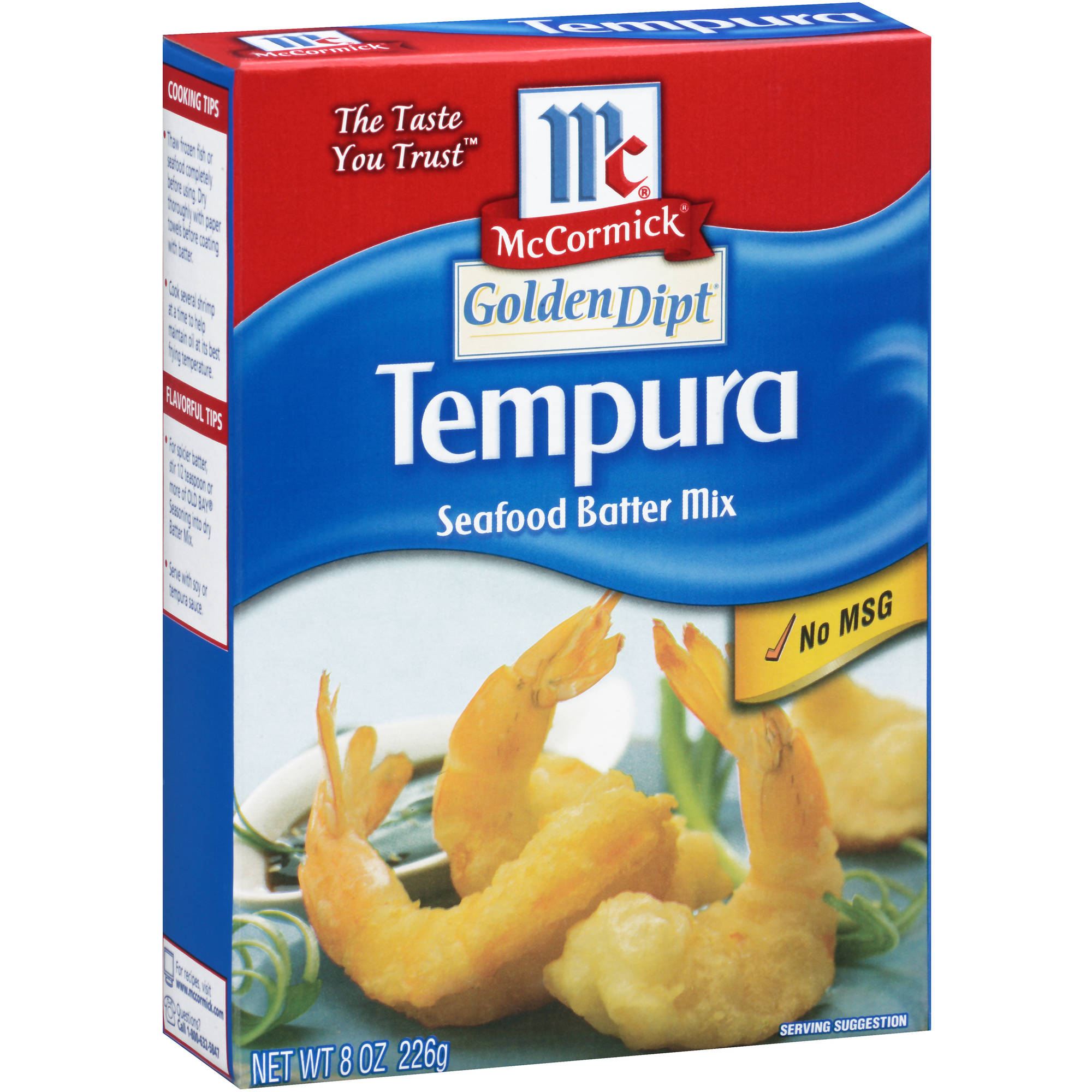 McCormick Golden Dipt Tempura Seafood Batter Mix, 8 oz