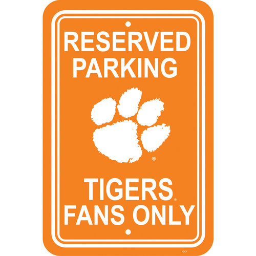 NCAA Clemson Tigers Parking Sign