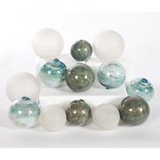 Knox and Harrison Mirage Ocean and Frost Glass Spheres - Set of 12