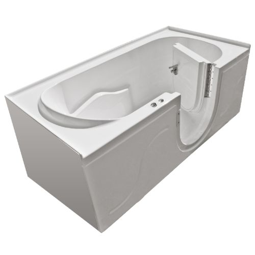 "MediTub 3060SIR-HC 60"" x 30"" Walk In Whirlpool Tub with Right-Swing Door from th"