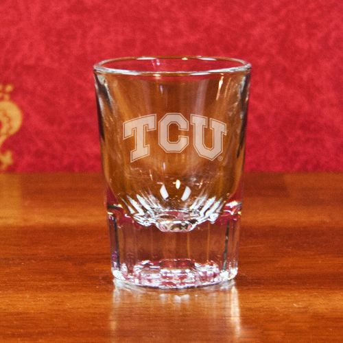 NCAA - TCU Horned Frogs 2 oz Deep Etched Classic Shot Glass