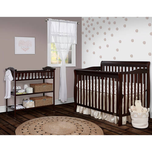 Dream On Me Ashton Convertible 5-in-1 Crib, Espresso