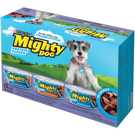Purina Mighty Dog Thick-Sliced Chicken Dinner in Gravy/Thick