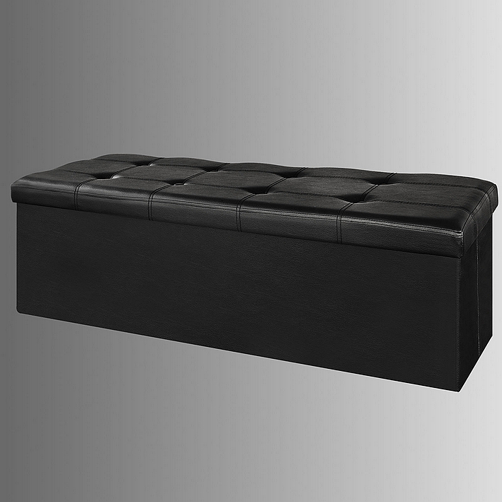 SoBuy faux leather storage ottomanfolding storage bench with Seat cushionFSS16-EL & SoBuy faux leather storage ottomanfolding storage bench with Seat ...