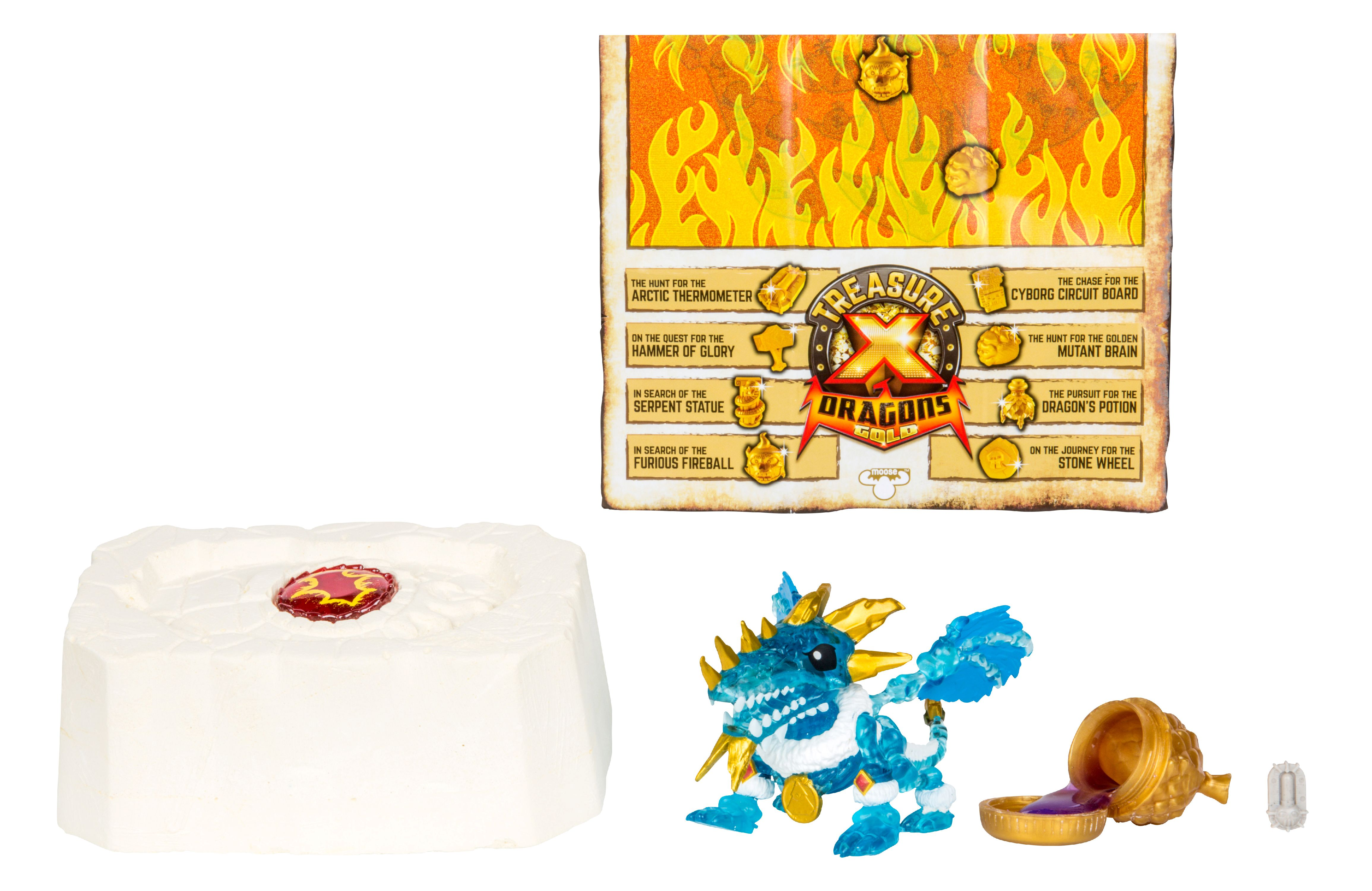 Treasure X Quest For Dragons Gold, Dig and Discover Collectible Dragon