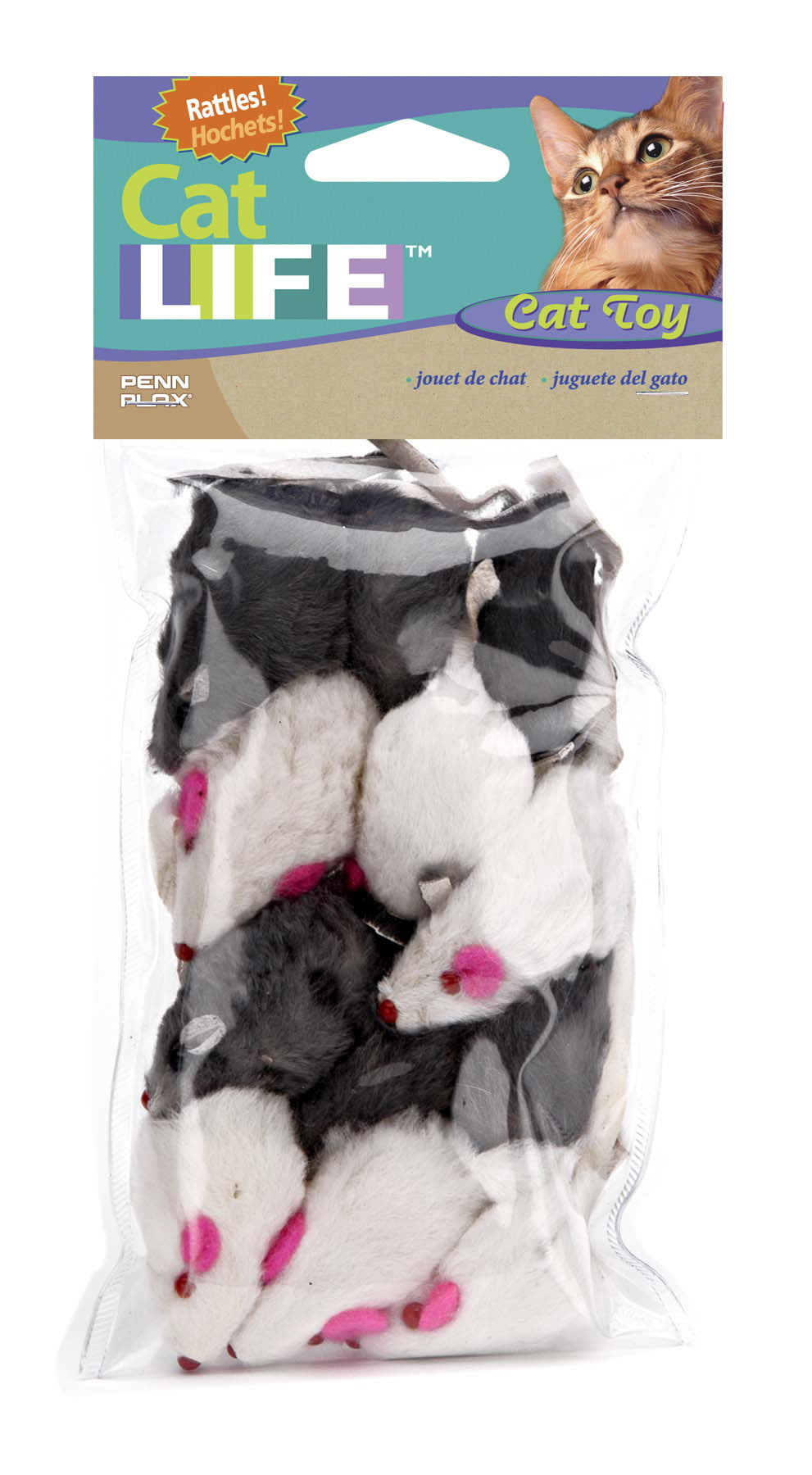 Penn Plax Cat Life Mouse Cat Toy, 12 Count by Penn Plax