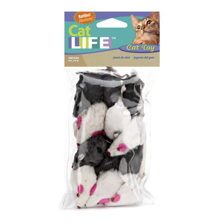 Bamboo Mouse Cat Toy (Penn Plax Cat Life Mouse Cat Toy, 12 Count )