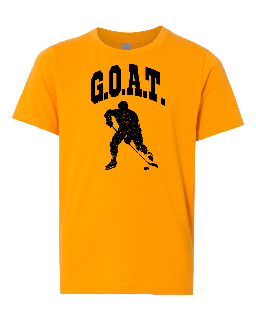 Greatest Of All Times G.O.A.T Hockey Youth Short Sleeve T-Shirt