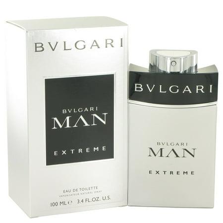 Bvlgari Man Extreme Eau De Toilette Spray for Men Parfum perfume 3.4 oz / 100 - Perfume Halloween Man 100 Ml