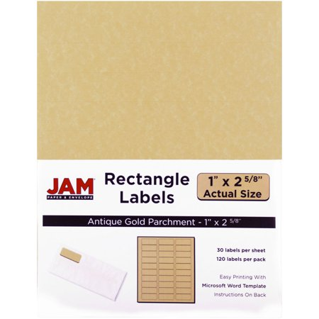 jam paper mailing address labels small 1 x 2 5 8 antique gold