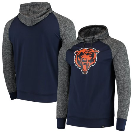 Chicago Bears NFL Pro Line by Fanatics Branded Static Pullover Hoodie - Heathered Black/Navy