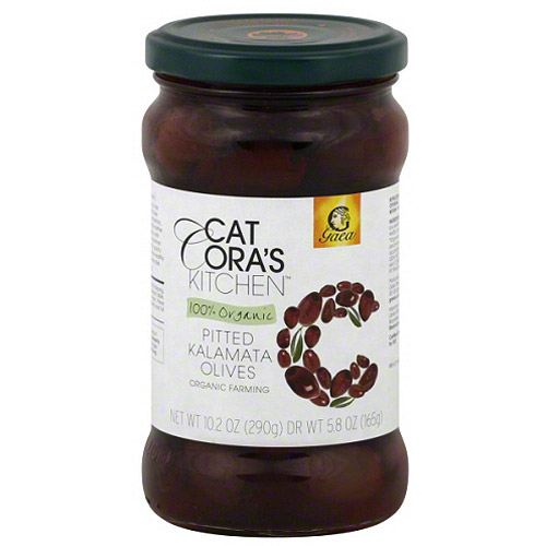 Cat Cora's Kitchen 100% Organic Pitted Kalamata Olives, 5.8 oz, (Pack of 8)