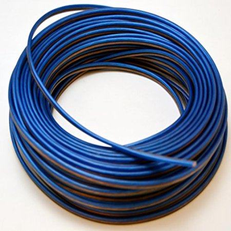 Voodoo Blue Black Speaker Wire 16 Gauge True AWG True Spec 100ft Stranded