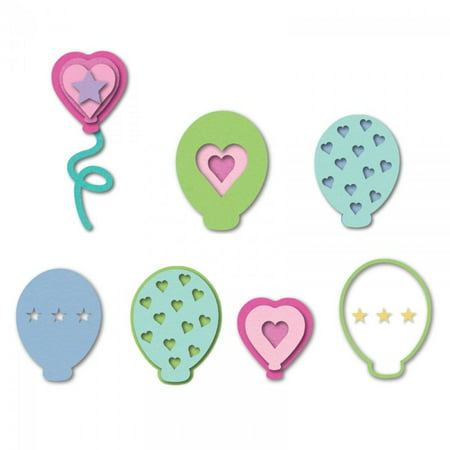 Sizzix Triplits Die Set 10PK Balloons by Stephanie Barnard - Balloon Crafts