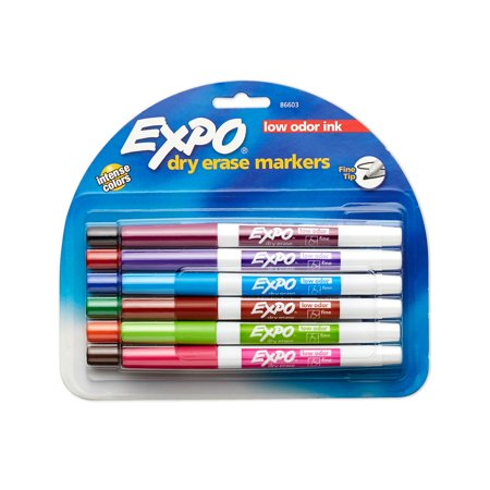 Dry Erase Material (EXPO Low Odor Dry Erase Markers, Fine Tip, Assorted Colors, 12)