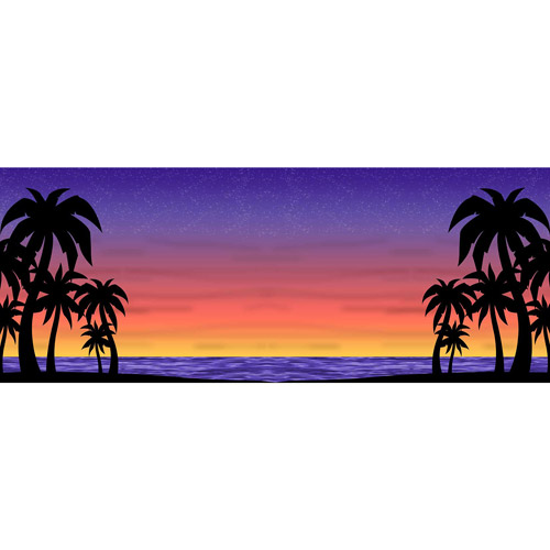 Lighted Sunset Background