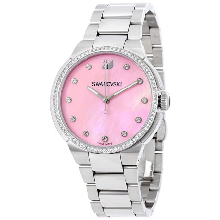 Swarovski Women's City Pink Mother of Pearl Dial Watch 5205993