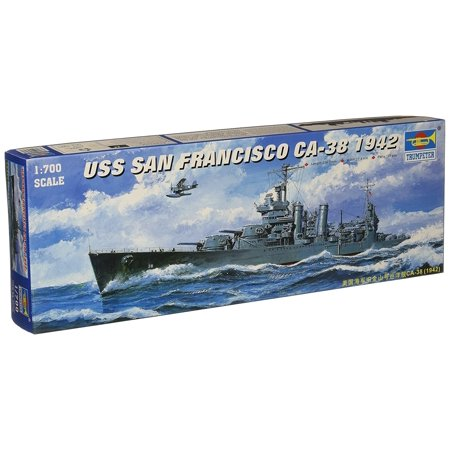 San Model Kit (1/700 USS San Francisco CA38 Heavy Cruiser 1942 Model Kit, Glue and paint not included By)