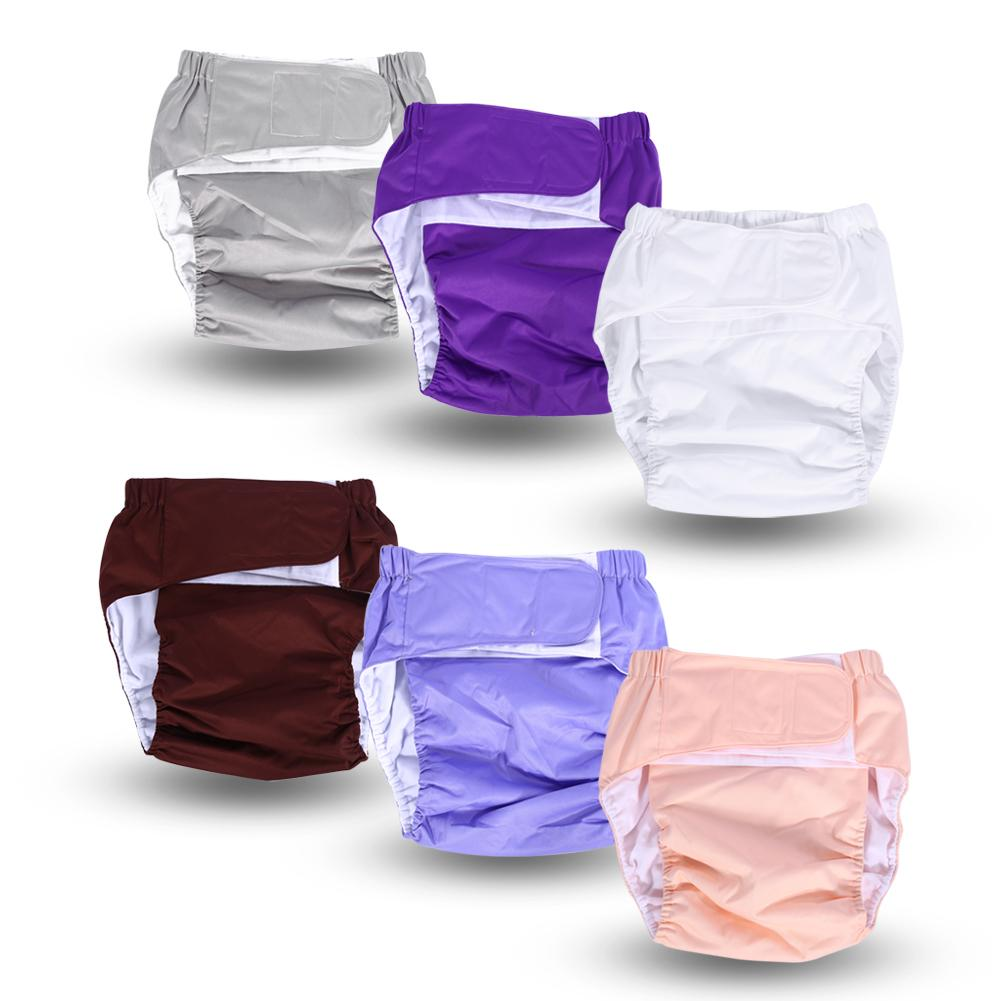 Tbest 1PC New Adult Washable Adjuatable Cloth Diaper Breathable Incontinence Nappy Pants 6 Colors, Reusable Adult Diaper, Diaper Pants