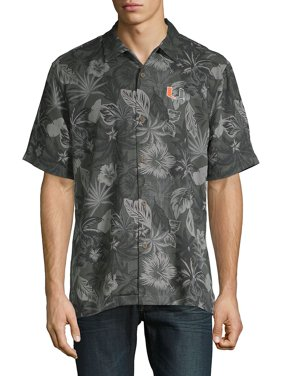 2cc95aa7528408 Product Image Fuego Floral Silk Collegiate Camp Shirt