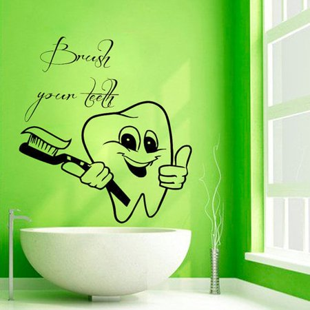 Stickalz Llc Brush Your Teeth Wall Quotes Vinyl Sticker Bath Words