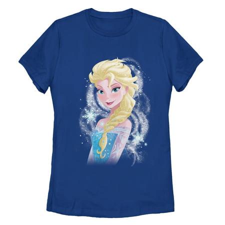 Frozen Women's Elsa Sparkle Profile T-Shirt - Elsa T Shirt