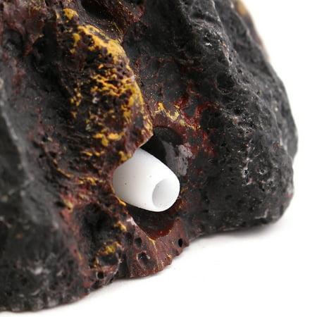 Aquarium Volcano Shape & Bubble Air Stone Oxygen Pump Fish Tank Ornament Decor - image 2 de 7