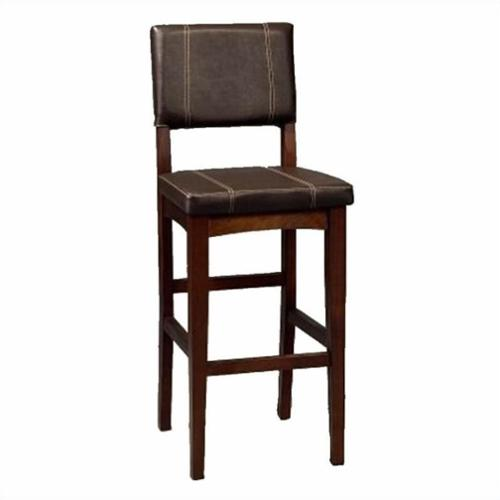 Linon Milano 30 Quot Bar Stool In Walnut Walmart Com
