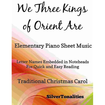We Three Kings of Orient Are Elementary Piano Sheet Music - eBook](Halloween Elementary Music Class)
