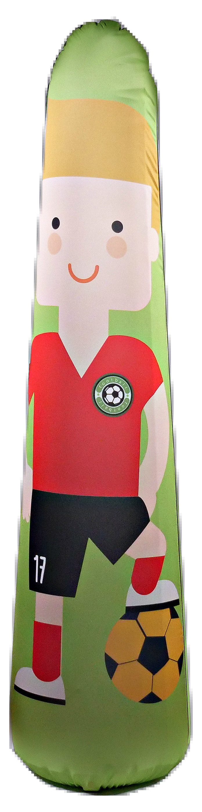 Kids Soccer Training Aid Free-Kick 5FT Inflatable + Machine Washable Fabric Cover by Bonk Fit by Pueri Elemental