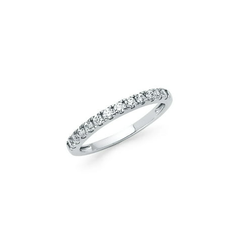 FB Jewels 925 Sterling Silver Ring Round Channel Set Cubic Zirconia CZ Anniversary Wedding Band Size 5.5