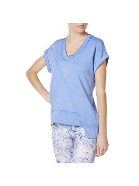 Calvin Klein Womens Short-Sleeve Asymmetrical-Hem Sweatshirt