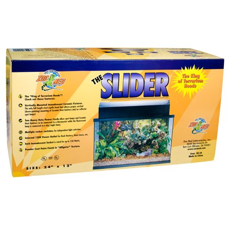 "Zoo Med Slider Hood (24"" - Holds 1 18"" Fluorescent/2 Incandescent)"