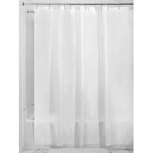 """interdesign mildew-free eva shower curtain liner, 54"""" x 78"""", frost"""