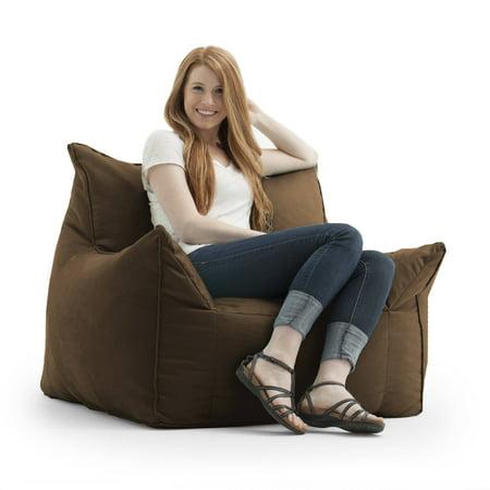 Big Joe FufSack Memory Foam Imperial Brown Microfiber Bean Bag Lounge Chair