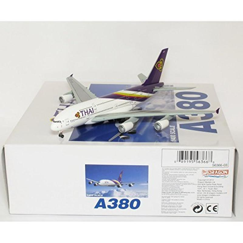 Dragon Models Thai A380 - HS-TUA Diecast Aircraft, Scale 1:400