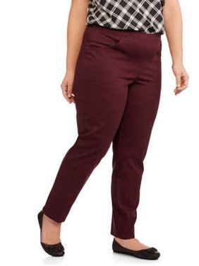 Just My Size Women's Plus Size 2 Pocket Stretch Pants, Available in Regular and Petite Lengths