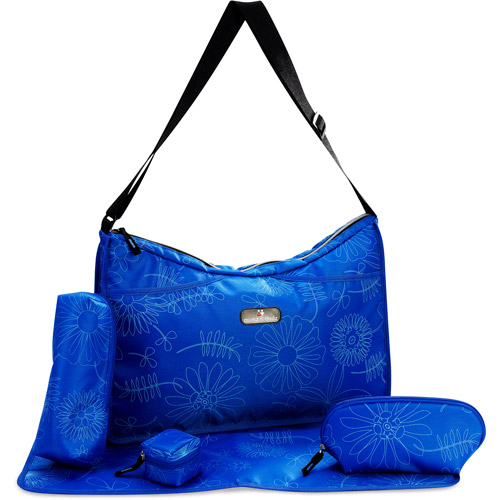 Nestle Hobo Style Diaper Bag, Blue and Black