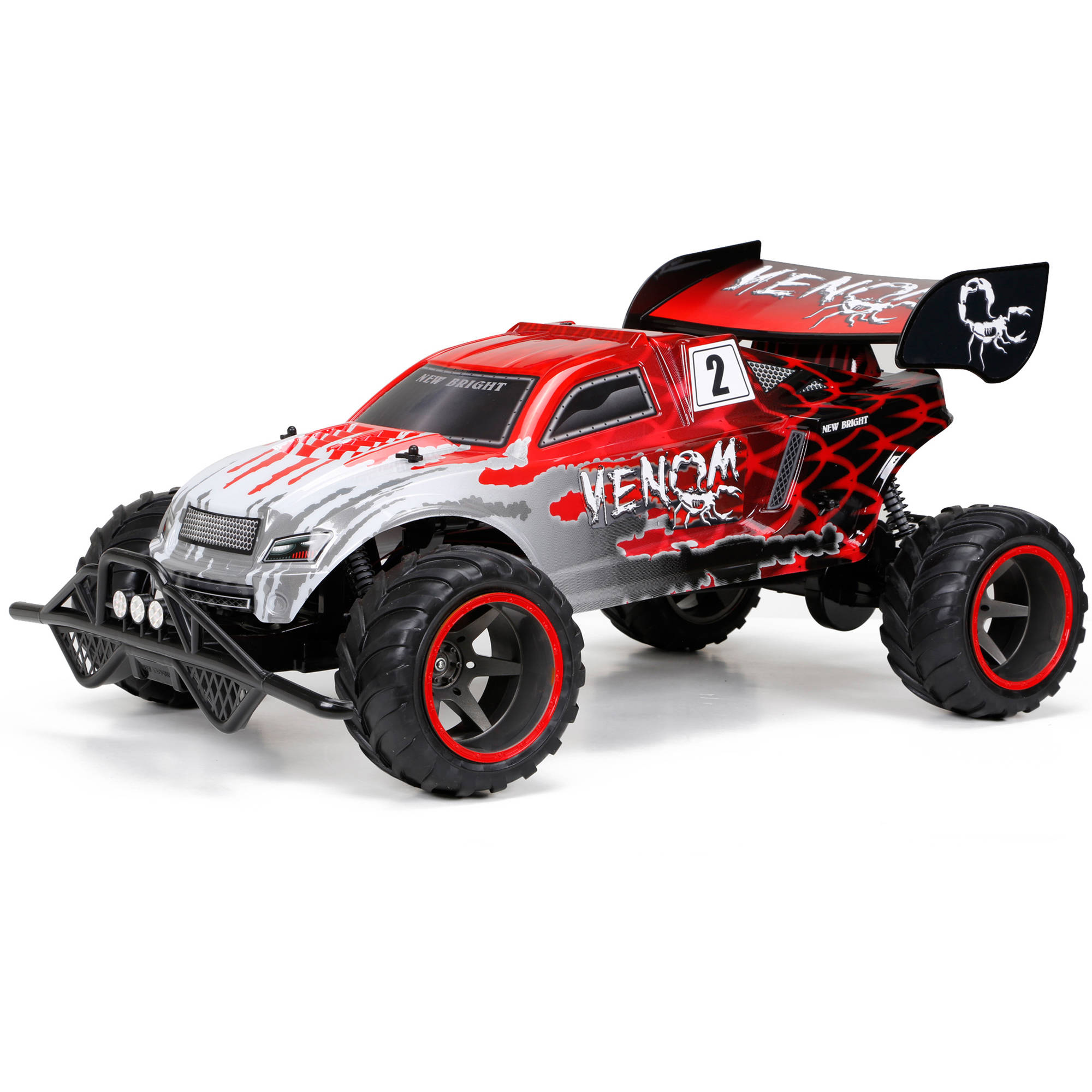 New Bright 1:6 Full-Function 9.6V Venom R/C Car, Red