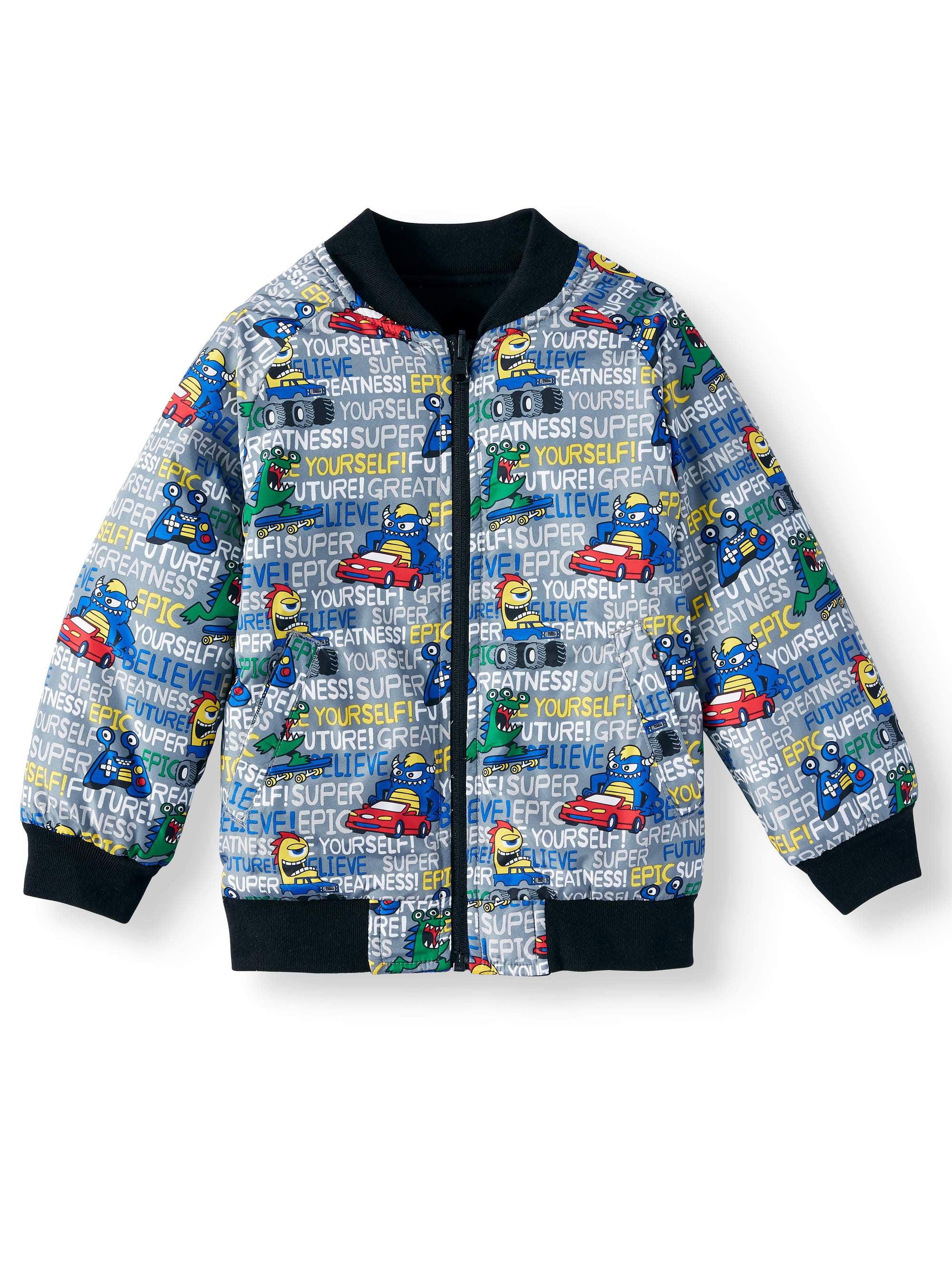 NWT 365 Kids Garanimals boys dinosaur spring fall reversible Windbreaker Jacket