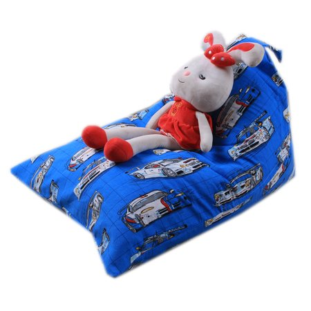 mosunx kids stuffed animal plush toy storage bean bag soft pouch stripe fabric chair. Black Bedroom Furniture Sets. Home Design Ideas