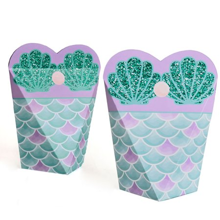 Trading The Tail For A Veil - Mermaid Bachelorette Party or Bridal Shower - Gift Favor Boxes for Women - Set of 12 - Bachlorette Favors