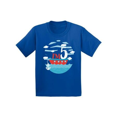 Awkward Styles 5th Birthday Shirt For Toddlers Sailor Party Tshirt Cute Gifts Kids Birhday T Boy