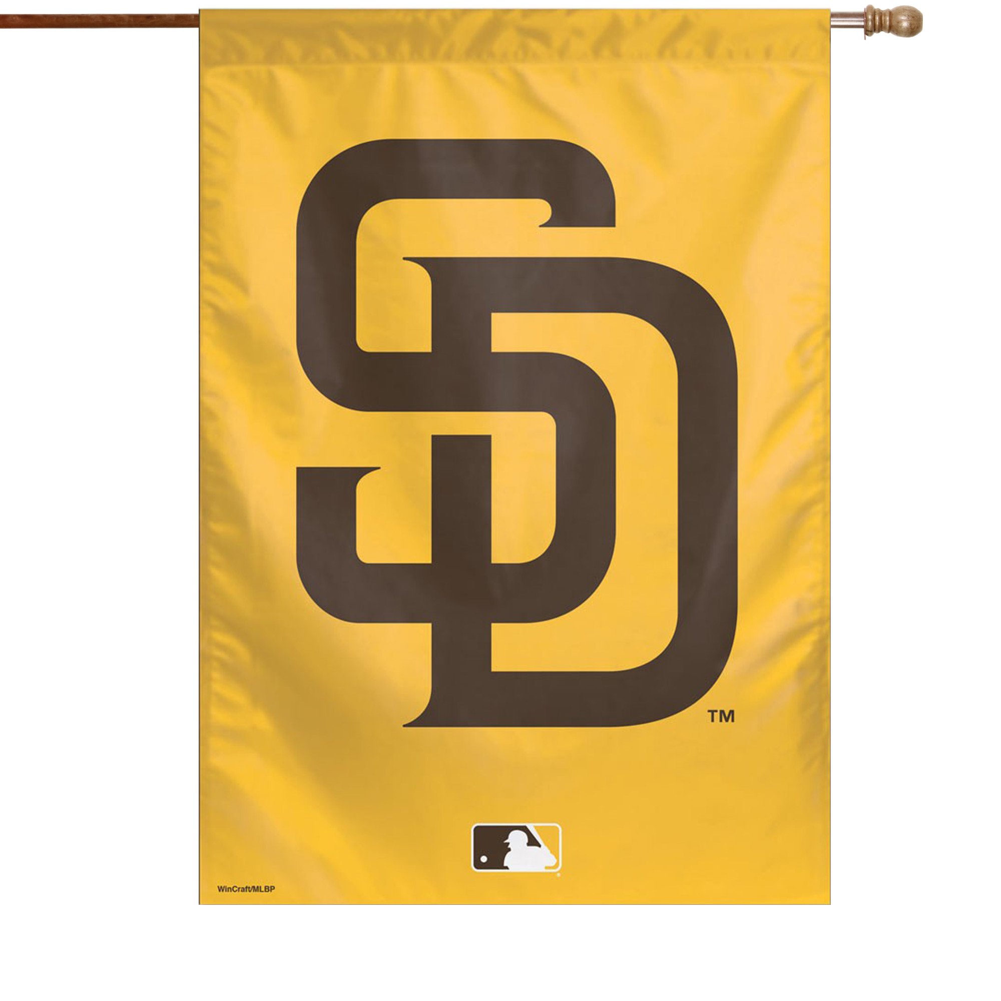 """San Diego Padres WinCraft 28"""" x 40"""" Logo Single-Sided Vertical Banner - No Size"""