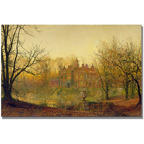 "Trademark Fine Art ""In Sere And Yellow Leaf"" Canvas Art by John Atkinson Grimshaw"